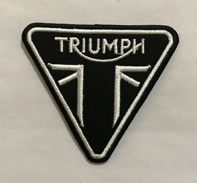 Triumph Triangular Shape Iron On Sew on Embroidered patch Bikes, Bikers #491