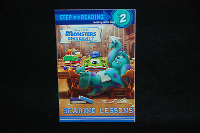 DISNEY PIXAR Monsters University Scaring Lessons Step 2 Childrens Book NEW