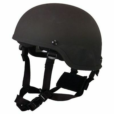 LVL IIIA Ballistic Helmet, MICH / ACH made with KEVLAR - Tactical, (BLACK)