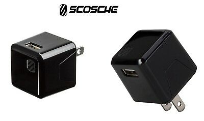 Scosche SuperCube USB Wall Charger Fastest Charger 12W 2.4 Amp USBH121T NEW