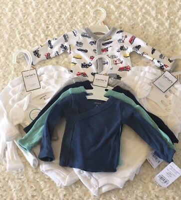 Carters Preemie Boy Lot Of 14 Pieces MSRP $94 (B8)