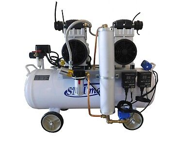 3HP, 18 Gallon, Oil Free & Noiseless Dental Air Compressor (220v)