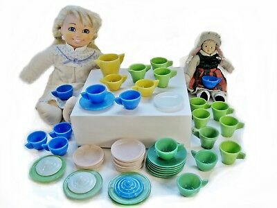 Akro/Alley Agate Tea Set Childs Play-Time Glass dishes (Choose Individually)