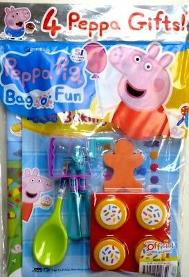 PEPPA PIG BAG OF FUN MAGAZINE ISSUE #80 ~ NEW WITH 4 x PEPPA GIFTS ~