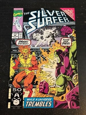 "Silver Surfer#52 Incredible Condition 9.2(1991)""Infinity Gauntlet"" Ron Lim Art!!"