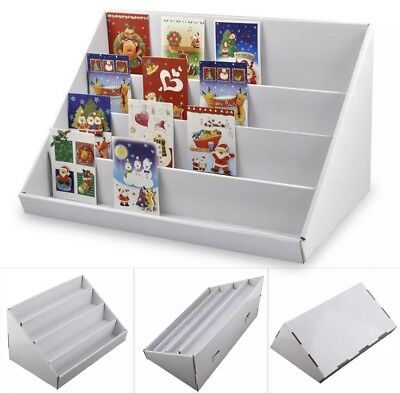 Allright 4 tier greeting card stand display collapsible card stand 2x 4 tier white collapsible cardboard greeting card display stands uk seller new m4hsunfo
