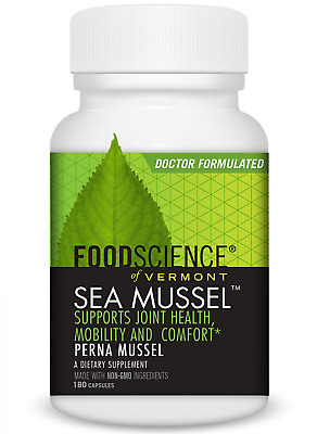 Foodscience du Vermont Mer Mussel, Green-lipped Mussel Joint Complément tablette