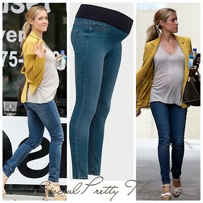 New Look Maternity Denim Blue Skinny Pregnancy Under Bump Jeans Jeggings 8-20