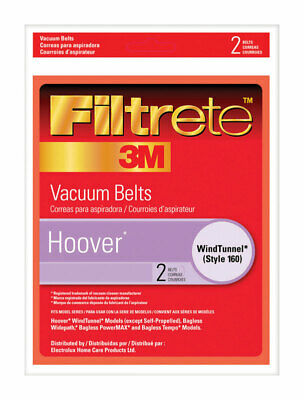 Filtrete Windtunnel Vacuum Belt Style 160 Fits Hoover Windtunnel