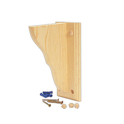"Waddell Shelf Bracket 9.75"" D X 13"" H X 1-1/4"" 12"" Unfinished Solid Pine 1-1/4"""