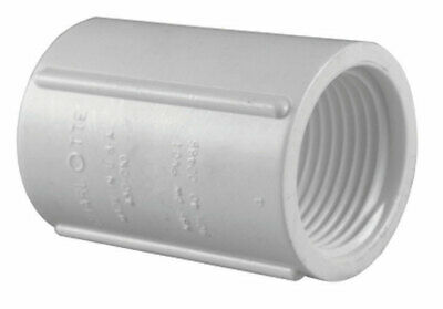 "Charlotte Pipe Coupling Sch 40 Pvc Fpt X Fpt 1 "" X 1 "" White"