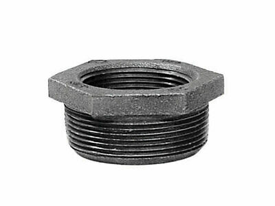 """B & K Hex Bushing Galvanized 3/4 """" Mip X 1/4 """" Fip Malleable Iron Pack of 5"""