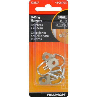 Hillman  AnchorWire  Steel Zinc  Small  D-Ring Hanger  1 lb. 4 pk