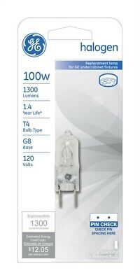 Westinghouse Halogen Light Bulb 100W 1500 Lumens T4 Gy6.35 2-3//16In Clear Card
