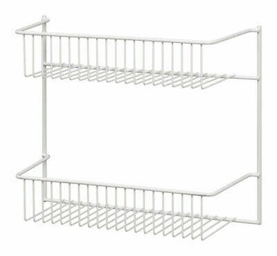 Wire Wall Rack2-Tier Wht