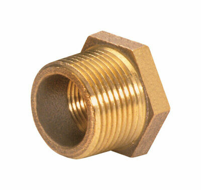 "Jmf Hex Bushing Coupling 3/4 "" Mpt X 1/2 "" Fpt Red Brass Lead Free"