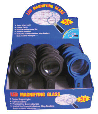 Diamond Visions Led Magnifying Glass Glass Pack of 24