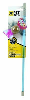 Pet Zone 1550012819 Corknip® Butterfly Compressed Catnip Wand Cat Toy