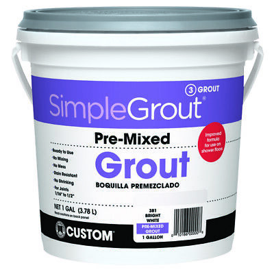Simplegrout Pre-Mixed Grout White 1 Gl