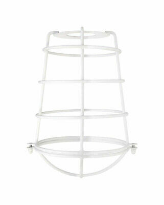 Westinghouse Cylindrical White Metal Protective Light Cage Shade