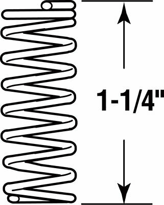 """Prime-Line Compression Spring 0.041 """" X 5/16 """" X 1-1/4 """" Steel Polybag Of 4"""