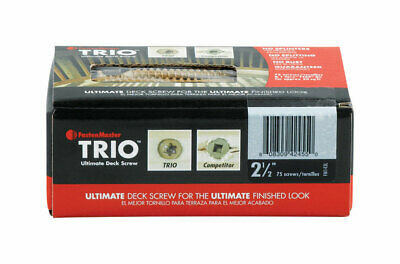 "Trio Screw 2.5"" Tan 75pc Pack 1"