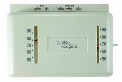 WHT Rodgers Thermostat Heat&Cool 24V 1.2 A 1.5 A 50 To 90Deg. F