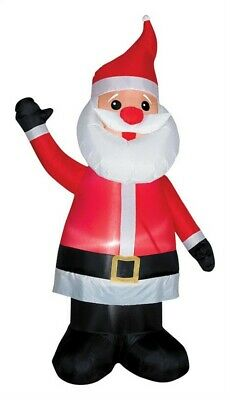 Gemmy  Santa with Red Nose  Christmas Inflatable  Multicolored  1