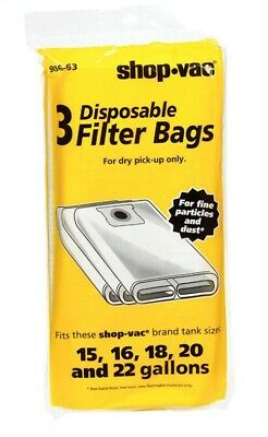 Shop Vac Disposable Collection Bags Pack 1
