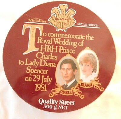 Quality Street 500g  Special Edition Tin Commemorating Charles & Diana Wedding