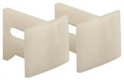 "Prime Line N7015 1-1/8"" White Plastic Pocket Door Bottom Guides 2 Count"