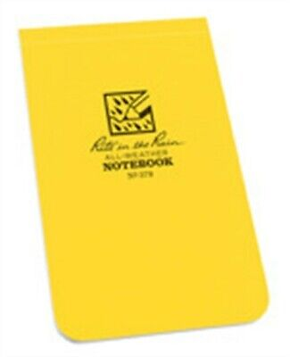 """Rite In The Rain 378 3-1/4"""" X 5-1/4"""" Yellow Soft Cover Top-Bound Notebook"""