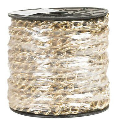 Campbell Chain Hobby & Craft Twist Chain 250 Trade Size Brass Plated 33' / Reel