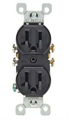 Leviton  15 amps 125 volt Black  Outlet  5-15R  1 pk