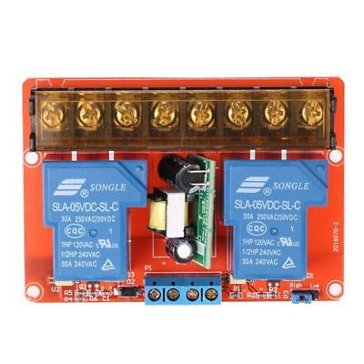 5X(2-channel 250VAC 30A Solid State Relay Module Board High/Low Level Trigg T6U2