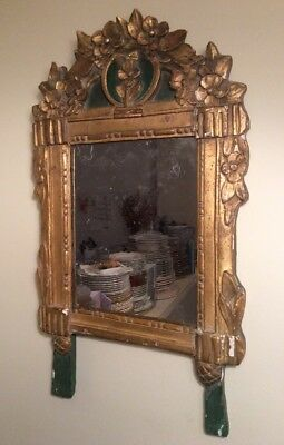Antiquue French Early 19th Century Gilded Louis XVI Mirror Authentic Original