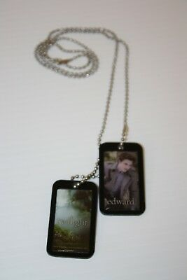 Twilight Edward Dog Tags Necklace ~ pre-owned Collectible!