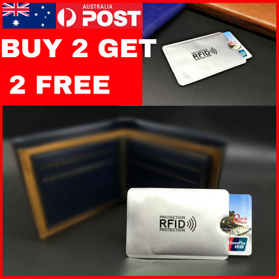 Rfid Rfid Secure Credit Card Blocking Sleeves Protector Scan Blocker Anti Theft