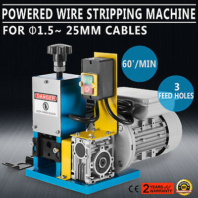 220V Powered Electric Wire Stripping Machine Peeling 55-60 feet/Min 1.5-25mm