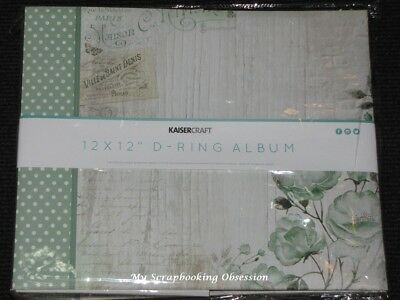 "Kaisercraft 12x12"" D-Ring 'MEMORY LANE' Album +10 Sheets Flowers/Floral KAISER"