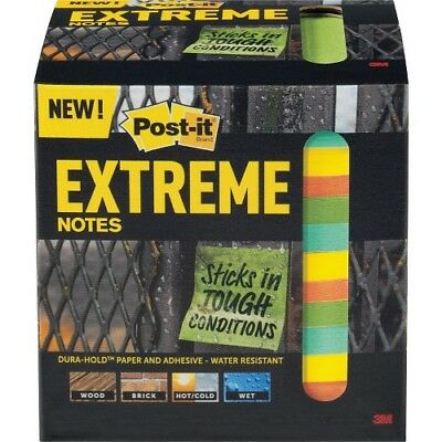 "Post-it Extreme Notes, 3""x3"", Multicolor, Self-adhesive, 540 / Pack"