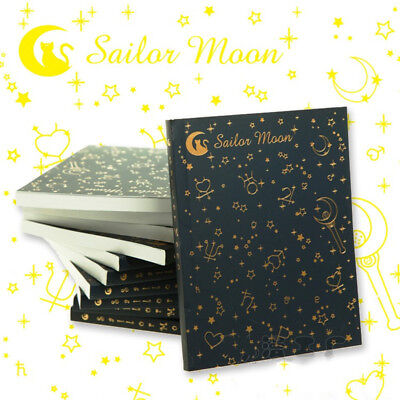 Sailor Moon Crystal Anime Notebook Stationery Bronzing Sailor Suit Cartoon Gift