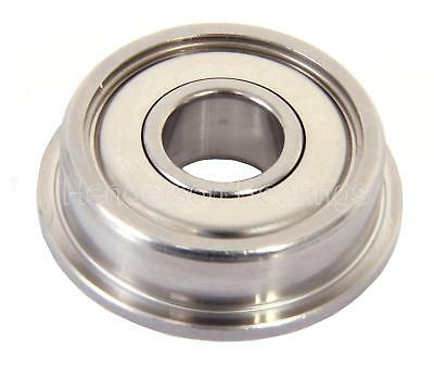 SF63800ZZ 10x19x7mm Stainless Steel Ball Bearing, Flanged (Pack of 50)