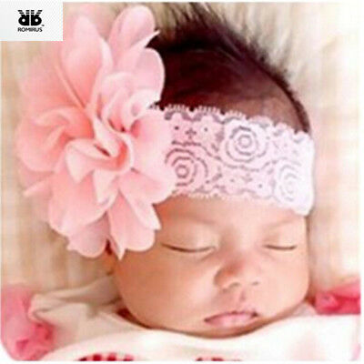 Headband Bandeau Bebe Fille Hair Accessories for Girls Solid Lace Flower Band