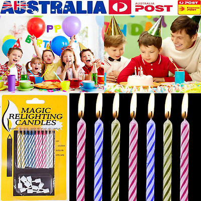 FUNNY  20 pcs Magic Relighting Candles Relight Birthday Party Fun Trick Cake Kid