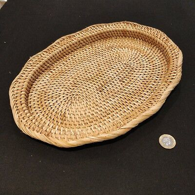 Vintage High-Quality, Elegant and Decorative Woven CANE Bamboo Tray