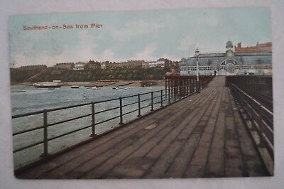 Southend on Sea from Pier - Essex - England - Vintage - Collectable - Postcard.