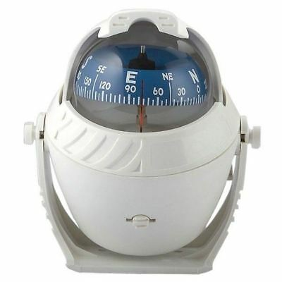 Compass Scout White 2in5/8 / Boat Compass