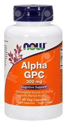 Now Foods, Alpha GPC, 300mg x60Vcaps - Bioavailable Choline