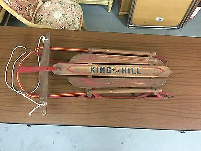 RARE Vintage King Of The Hill Sled Antique